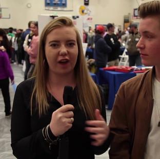 Student MC's LilliAnn Smalls & Patrick Keleher