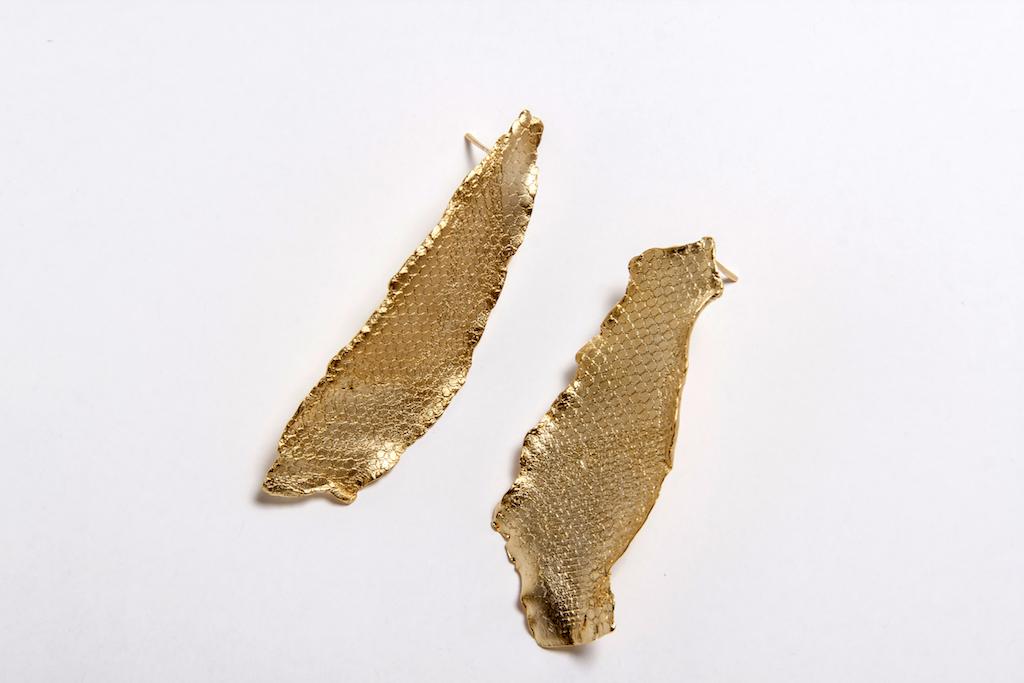 Aros Susana Cabrera- Bronce bano de oro