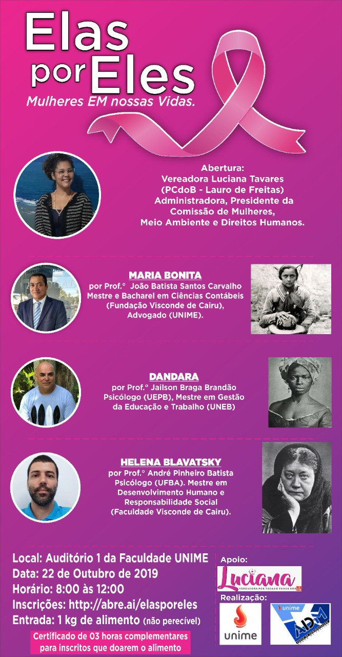 CERTIFICADOS: ELAS POR ELES 2019