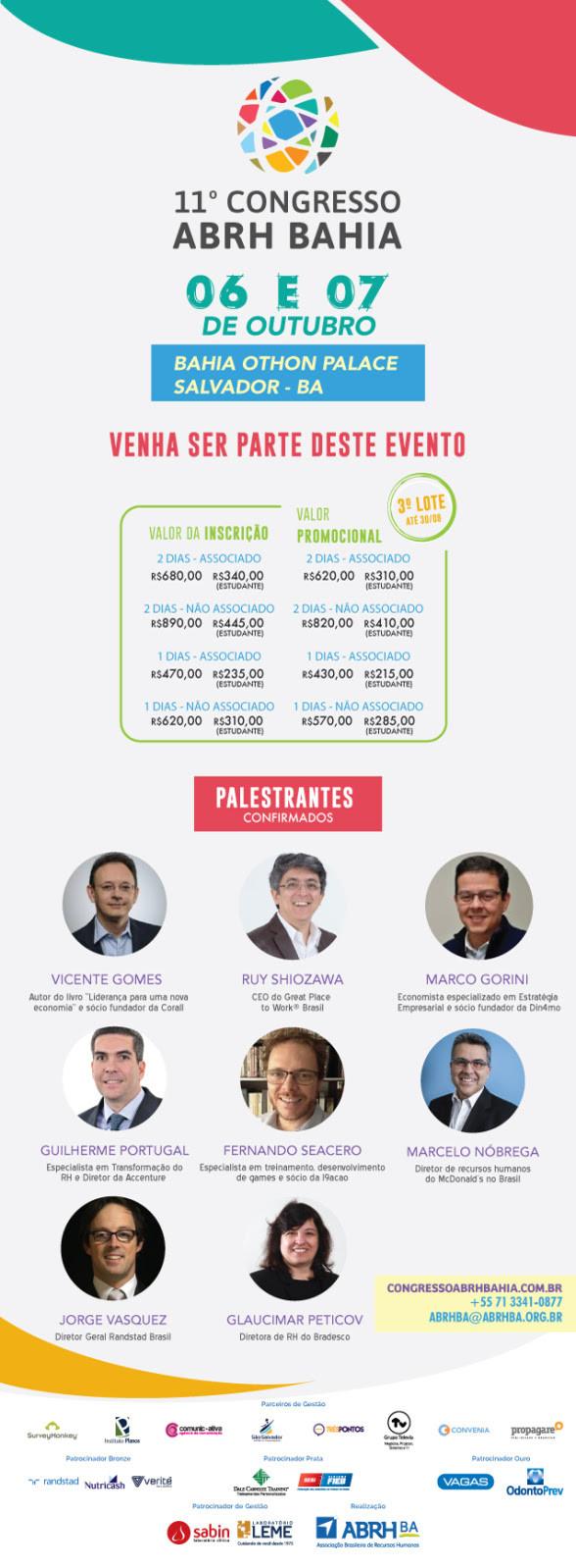 11º Congresso da Associação Brasileira de Recursos Humanos - ABRH Bahia