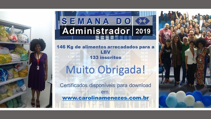 CERTIFICADOS DA SEMANA DO ADMINISTRADOR 2019
