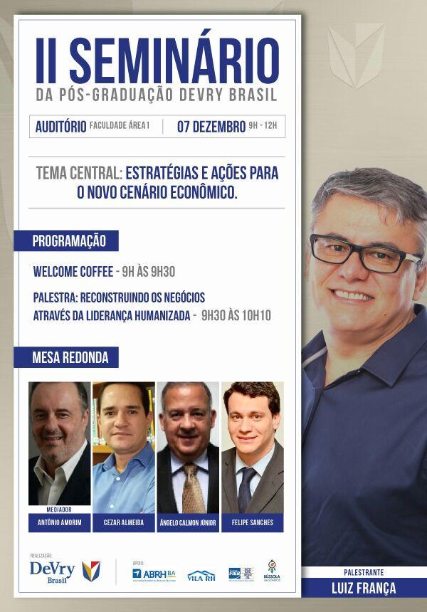 II Seminário da Pós-Graduação Devry Brasil
