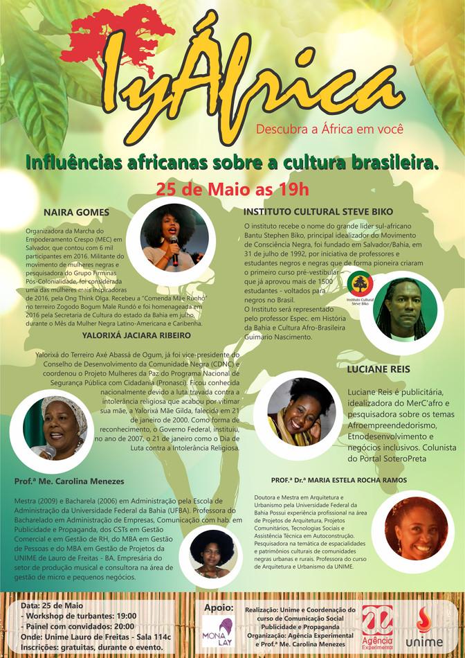 25/5 - Dia da África na UNIME - Lauro de Freitas