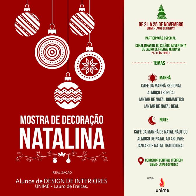 Na Unime: Mostra de Decoração Natalina