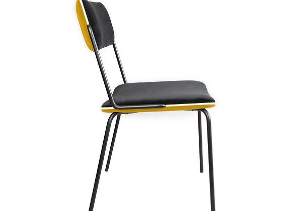 Chaise Double Jeu Ocre Noir