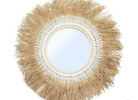 The Raffia Ginger Mirror Nautal