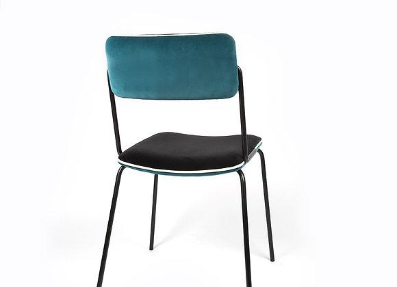 Chaise Double Jeu Bleu Sarah Noir