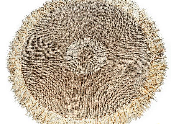Tapis rond Raphia Fringed Carpet