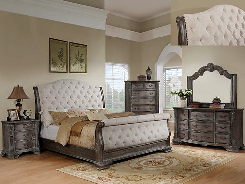SHEFFIELD GREY SLEIGH BEDROOM GROUP