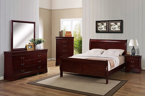 3800 Cherry Sleigh Bed