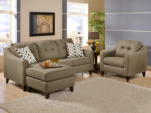 4743 Sectional Chocolate