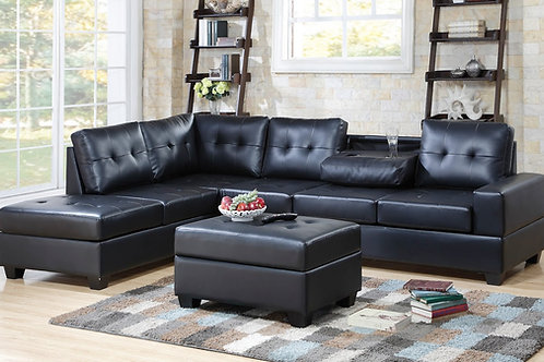Heights Sectional w/ Storage Ottoman and Cupholder