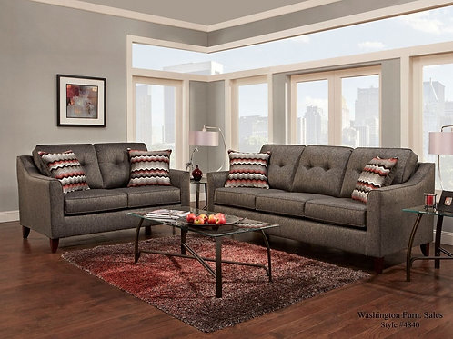4843 Sofa and Loveseat Set