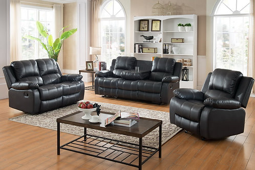 Maggie Black Reclining Set