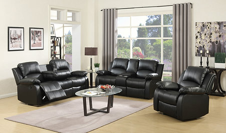 11100 BLACK RECLINER SET