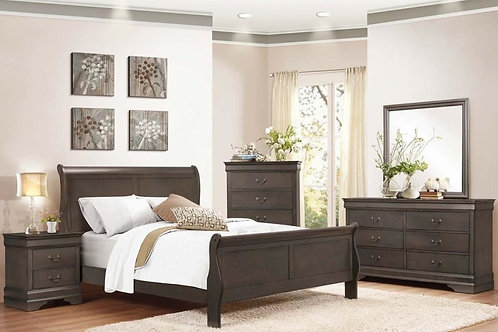 3500 Grey Sleigh Bed
