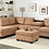Thumbnail: HEIGHTS SECTIONAL + OTTOMAN SET