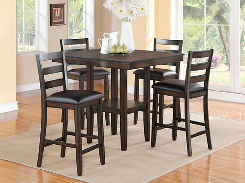 Tahoe 5 Piece Counter Height Table and Chairs Set