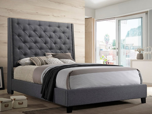 Chantilly Grey Upholstered Bed