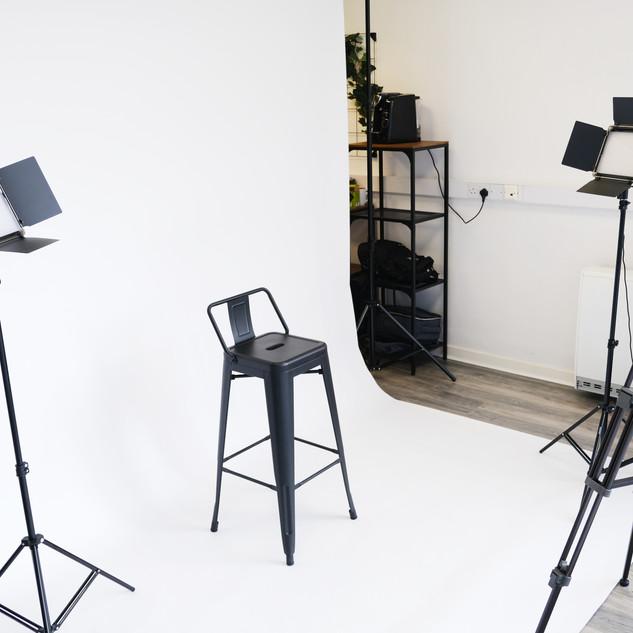 Studio with backdrop