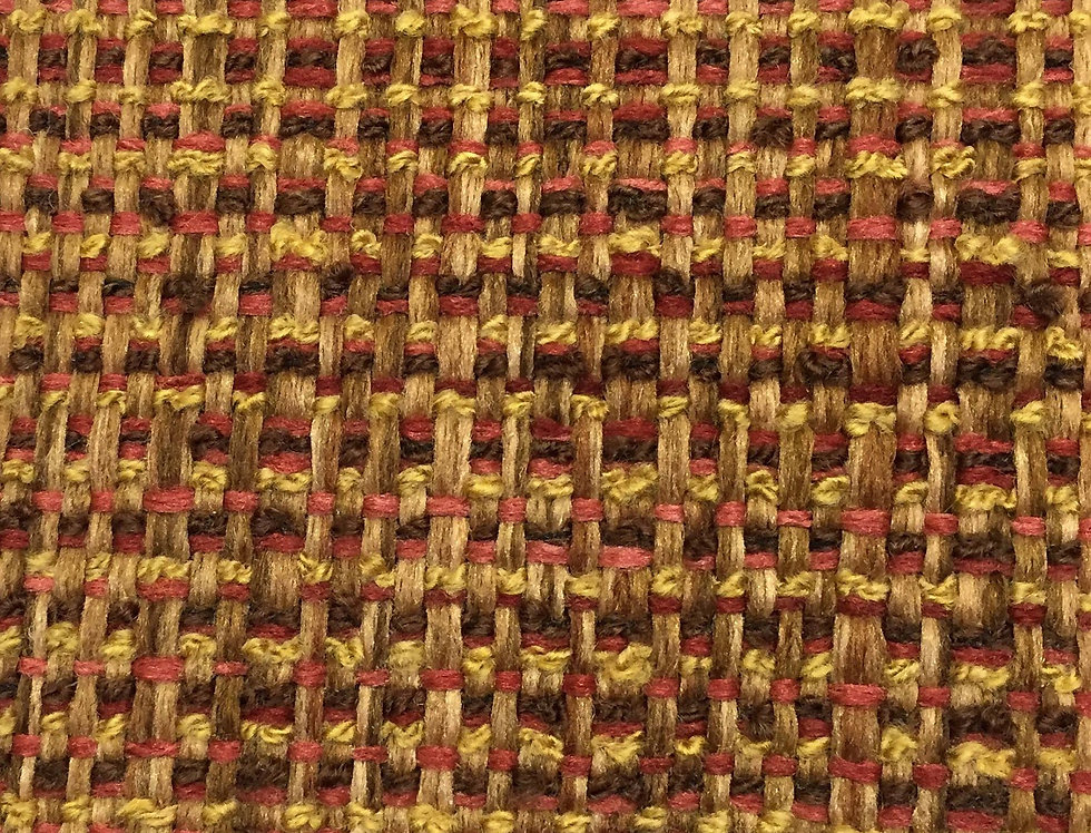 Salmon Brown and Gold Woven