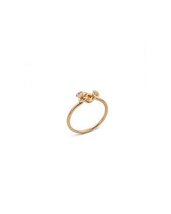 Simple knot and diamond ring