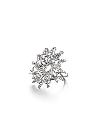 Silver whirl ring