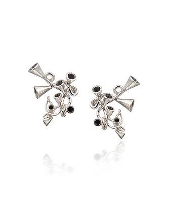 Scale Array silver earrings