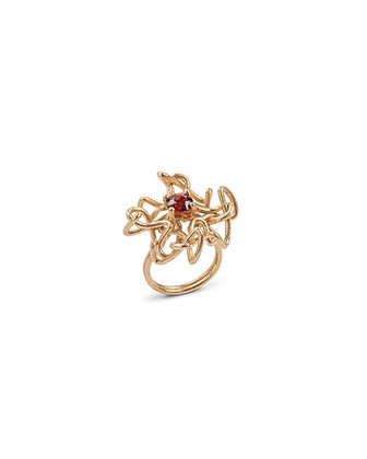 Gem knot ring