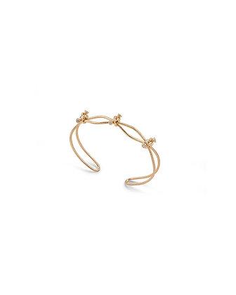 Simple 3 knot and diamond bracelet