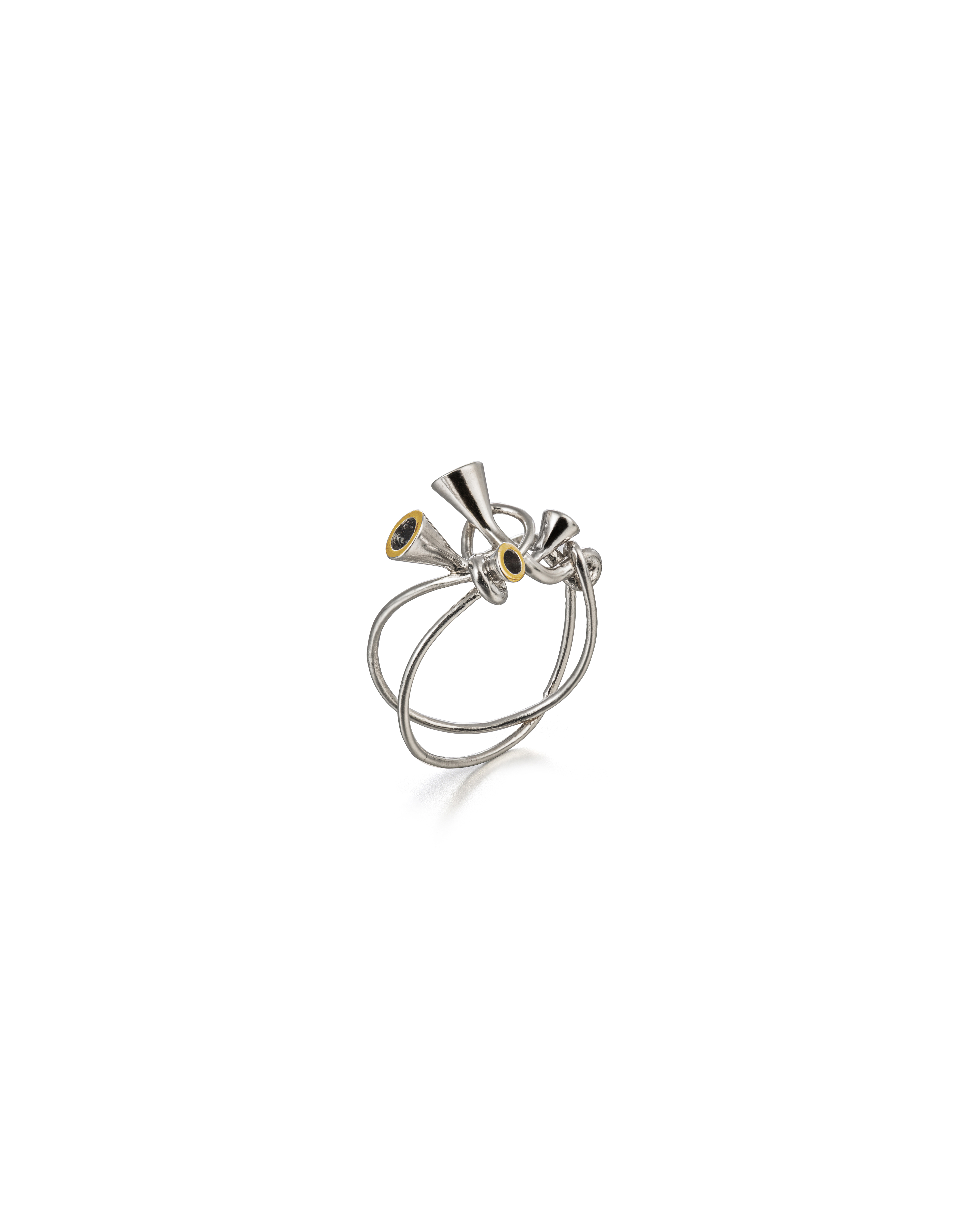 Scale Array gold circle small ring