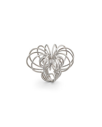 Sculpt silver ring - Large