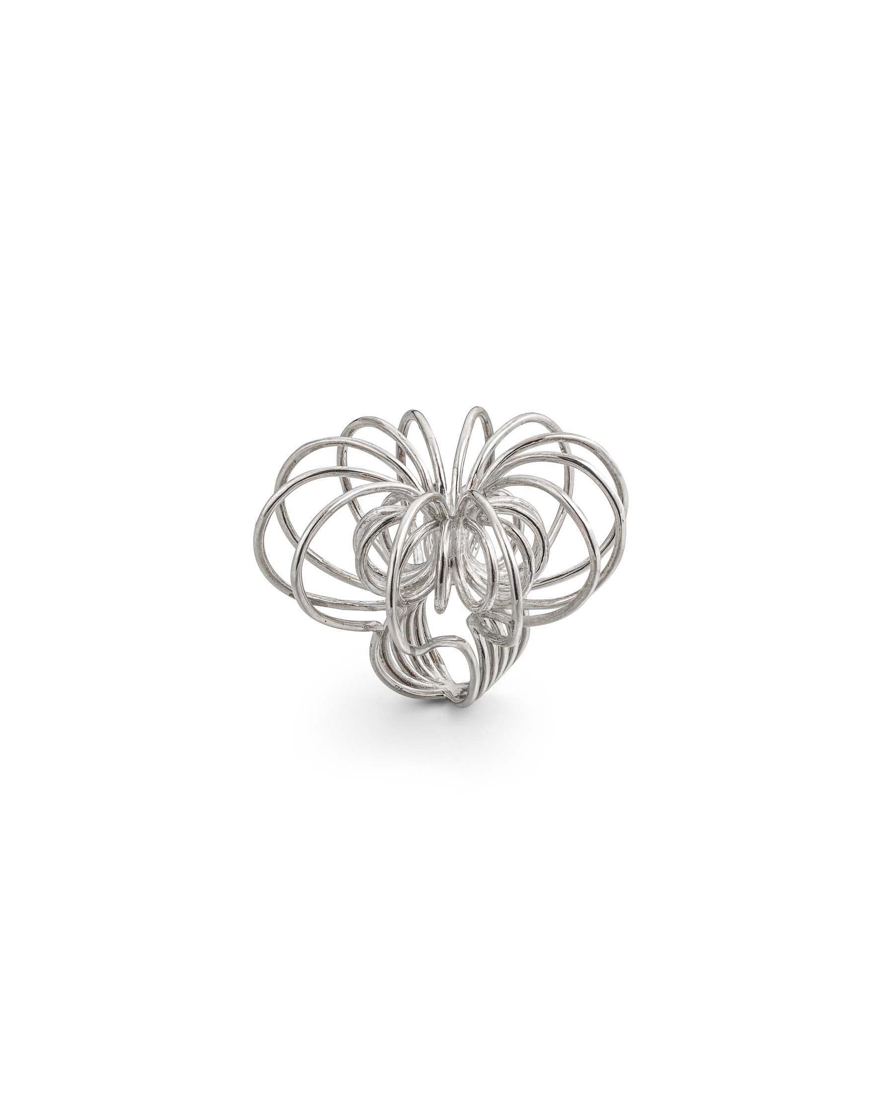 Silver large sculpt ring
