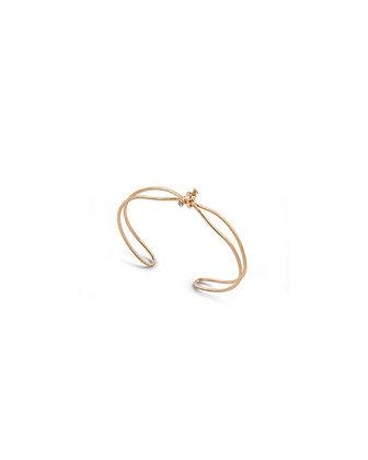 Simple knot and diamond bracelet