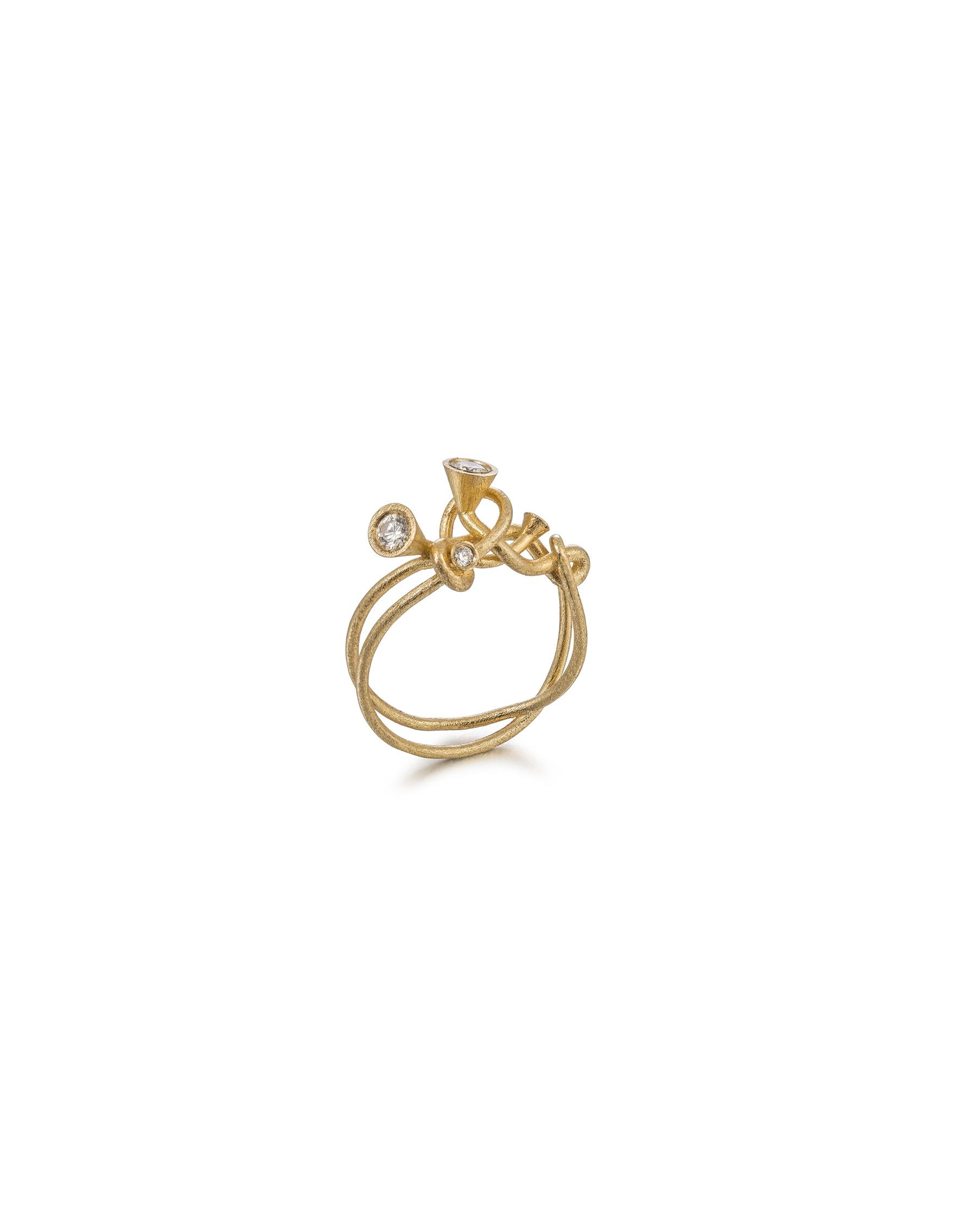 Scale Array diamond small ring