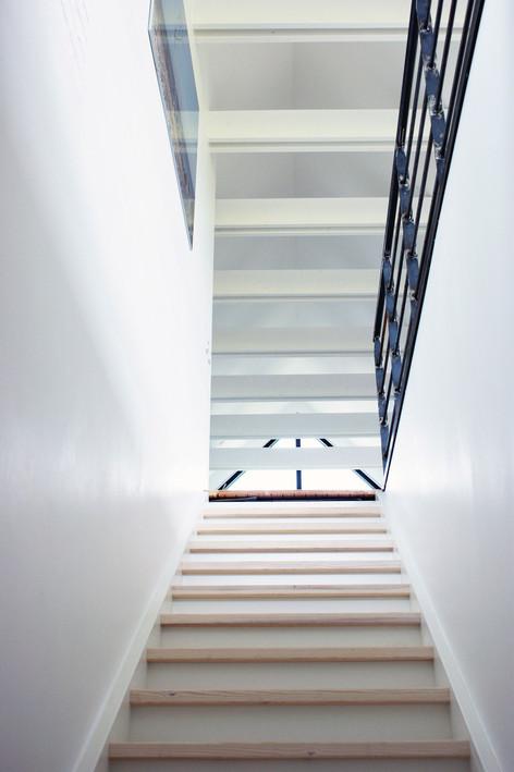 Anne og Jan købte en villa fra 1976 med en fantastisk beliggenhed og udsigt til Lillebælt. Villaens godt 180 m2 i to plan skulle forvandles til en moderne og funktionelt hjem til en familie med fire børn. Ingen plads måtte gå til spilde. Fra starten af havde familien en klar idé om rumfordelingen. Værelser i underetagen og fælles ophold på 1. sal. Derudover skulle der være en ny trappe til første sal samt et ekstra toilet. Der skulle laves en kæmpe kvist i køkken/alrummet - med udgang til en stor terrasse. Børneværelserne skulle være så store som muligt. Et kombi bryggers/fællesrum for børnene, således at de havde et fællesareal til spil og andre aktiviteter.