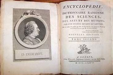 """La Enciclopedia (1751–1772), """"diccionario razonado"""" de Diderot y d'Alembert"""