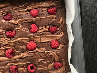 Raspberry brownies