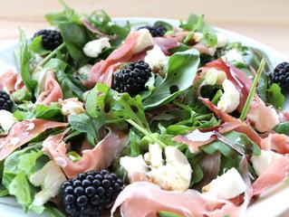 Blackberry, Prosciutto and Mozzarella salad