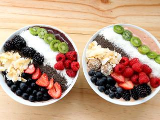 Açaí and Berry Ripe Smoothie bowls