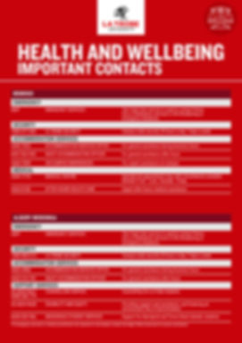 Health and Wellbeing Contacts 2019 - Reg