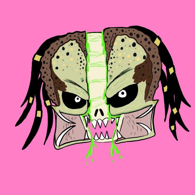 Predator skull split