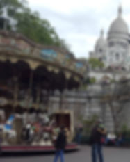 carousel and sacre coeur - Paris Day 1 -