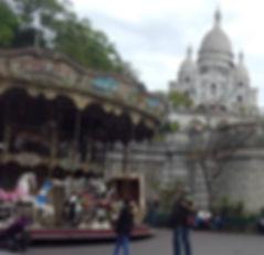carousel and sacre coeur - Paris Day 1 -