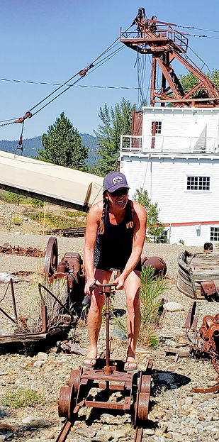 Sumpter Valley Dredge_leah riding the ra