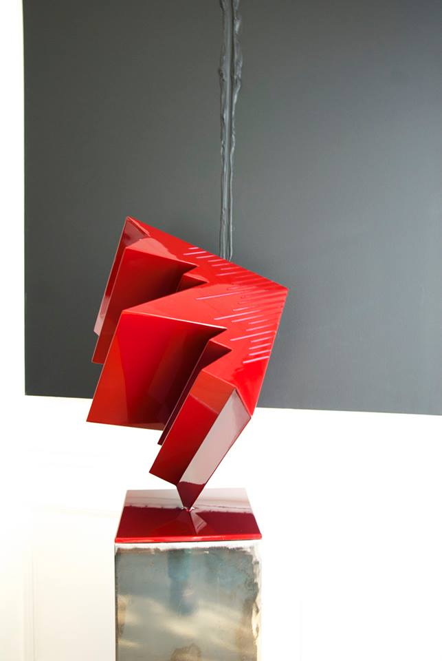 """P FAVA cube rouge  et """"Monsieur F"""""""