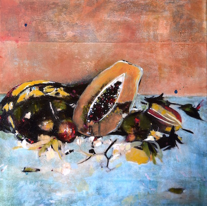 papaya still life 40x40 - copie
