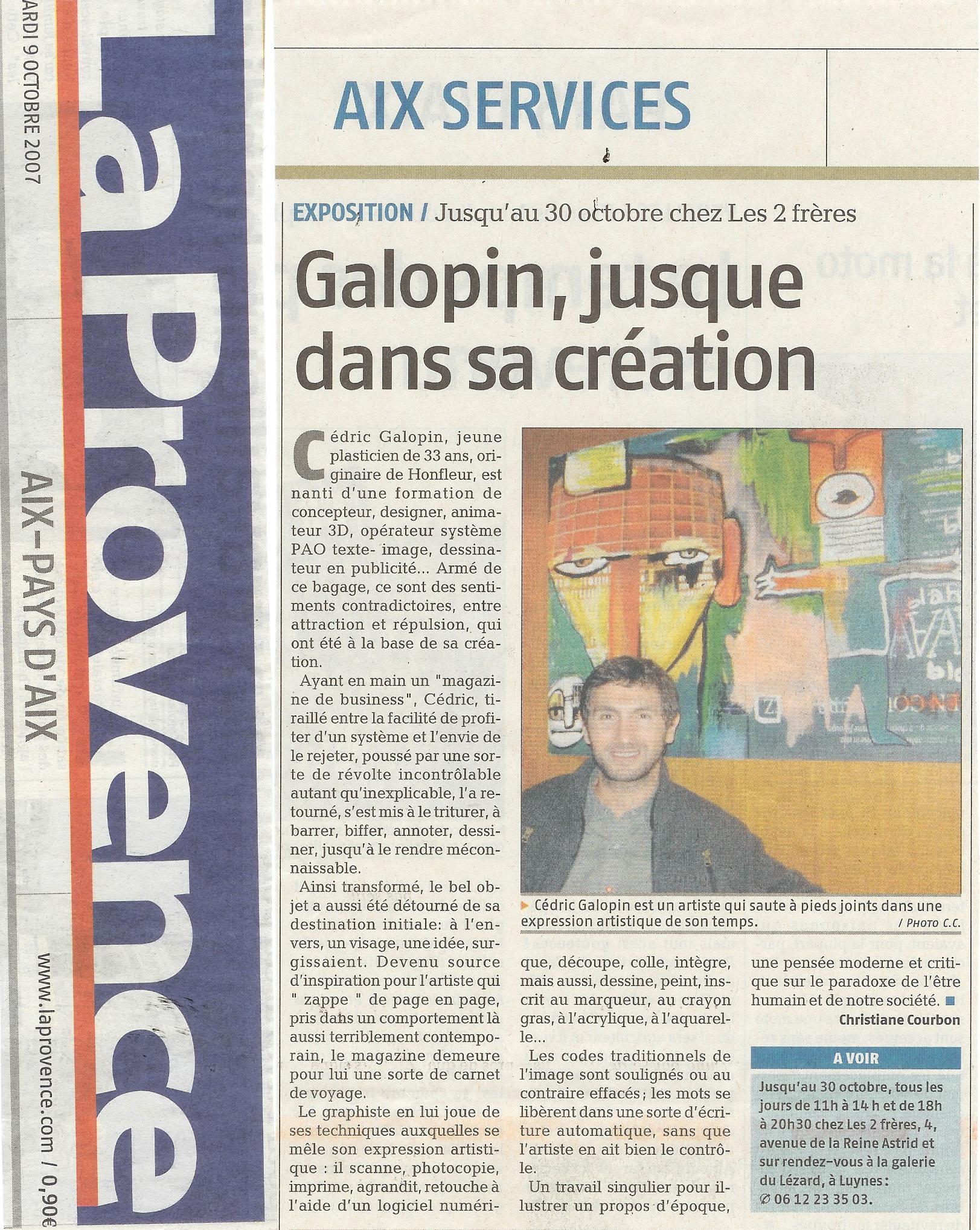 2007 octobre Cédric Galopin