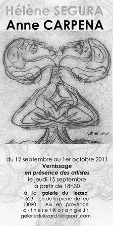 Invitation Anne Carpena 2011