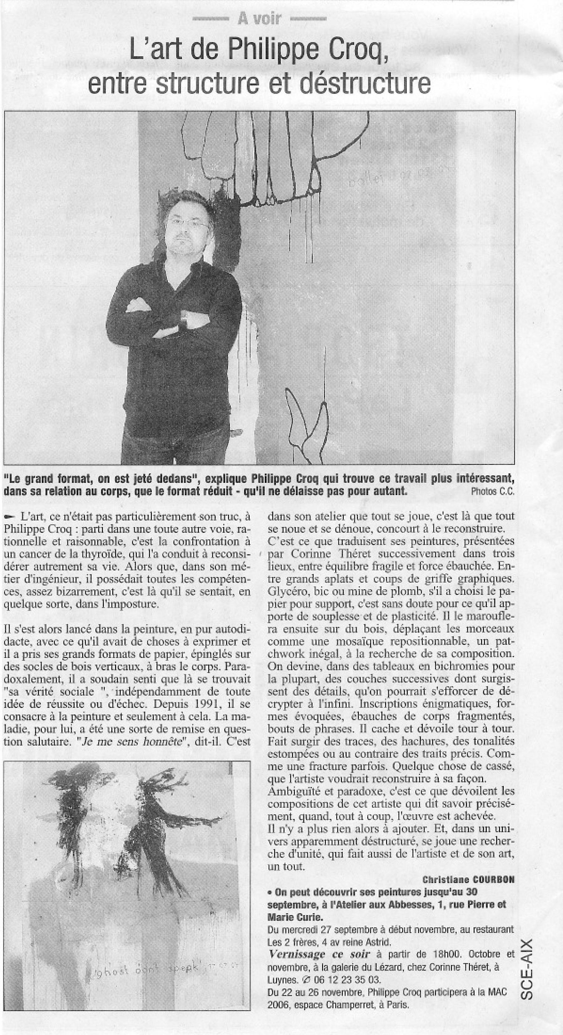 sept 2006 Philippe Croq